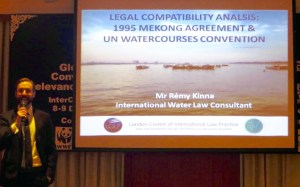 The author presenting on the UN Watercourses convention in 2016. Picture supplied by author.