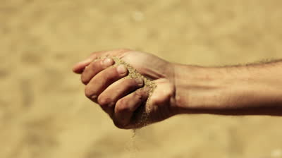fistful of sand