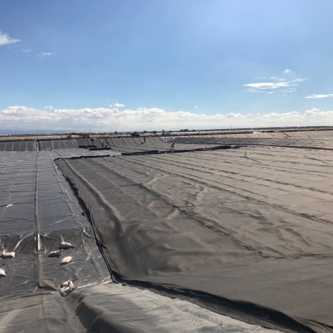 Wastewater Evaporation Pond, 3 Layer Liner System - Picture 3
