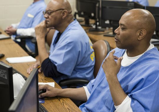 San Quention prisoners training in the Code 7370 program