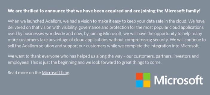 Microsoft compra Adallom