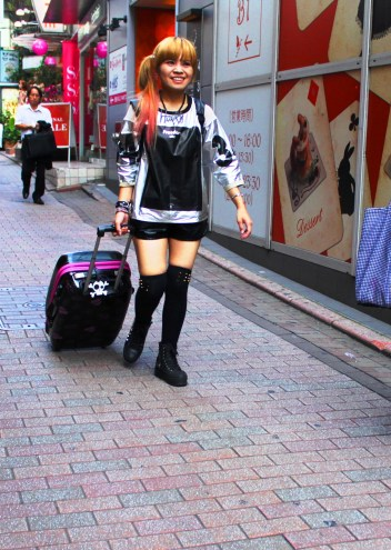 girl wth suitcase
