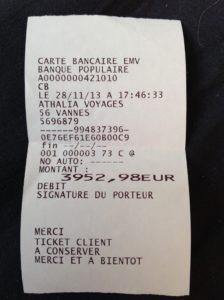 Ticket billets