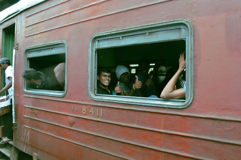 Traveling by Train in Sri Lanka