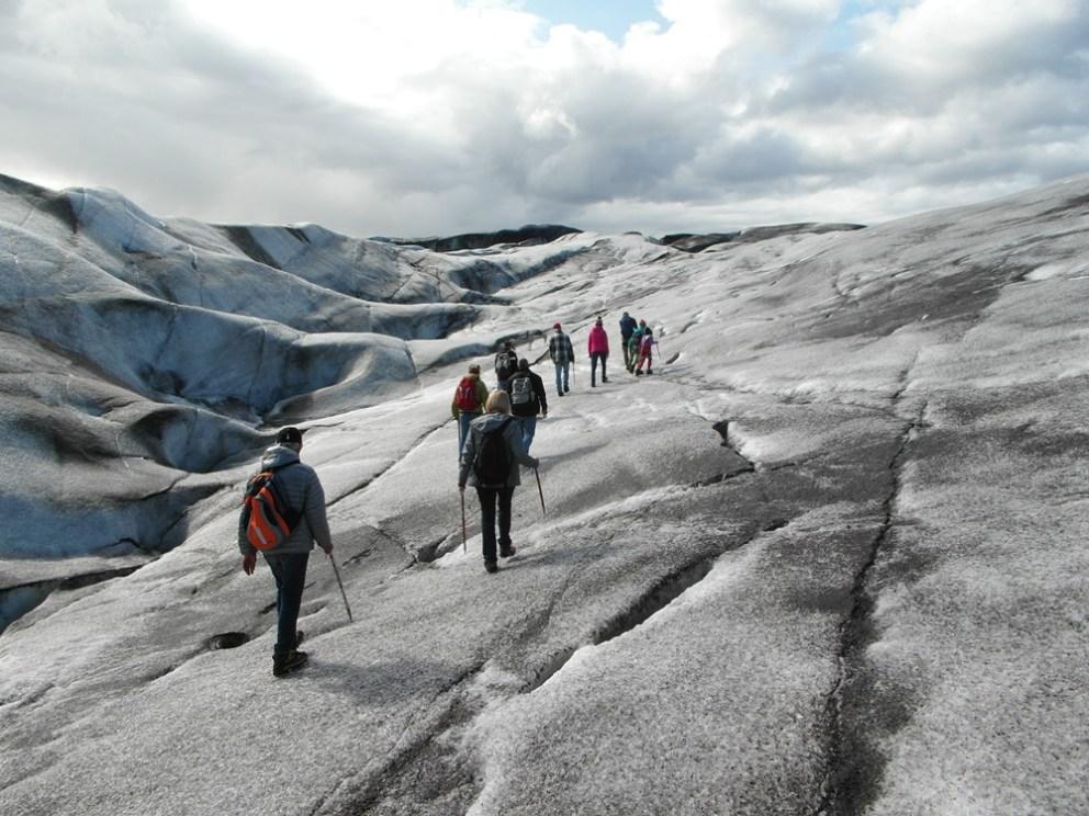 gletsjerwandeling vatnajokull op ijsland