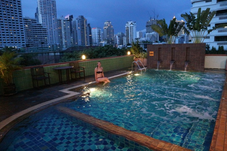 Rooftop pool Bangkok