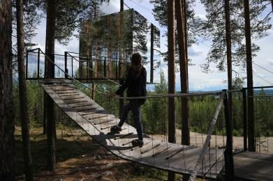 route door Zweeds Lapland
