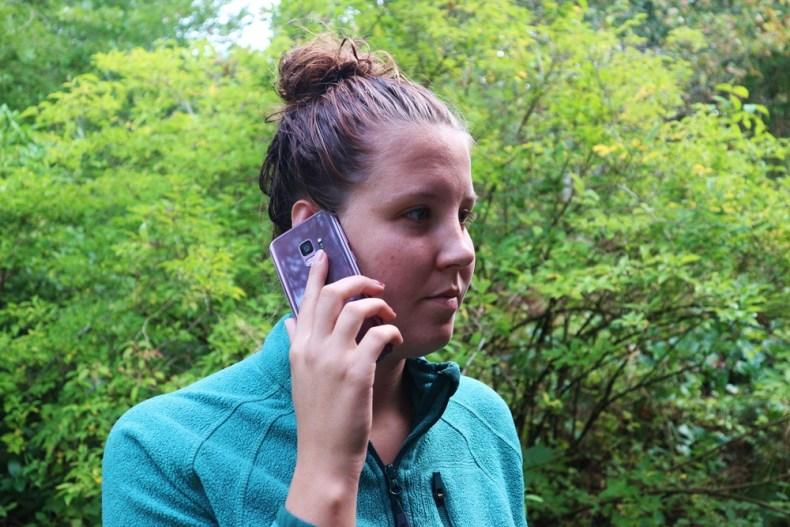 telefoon op reis