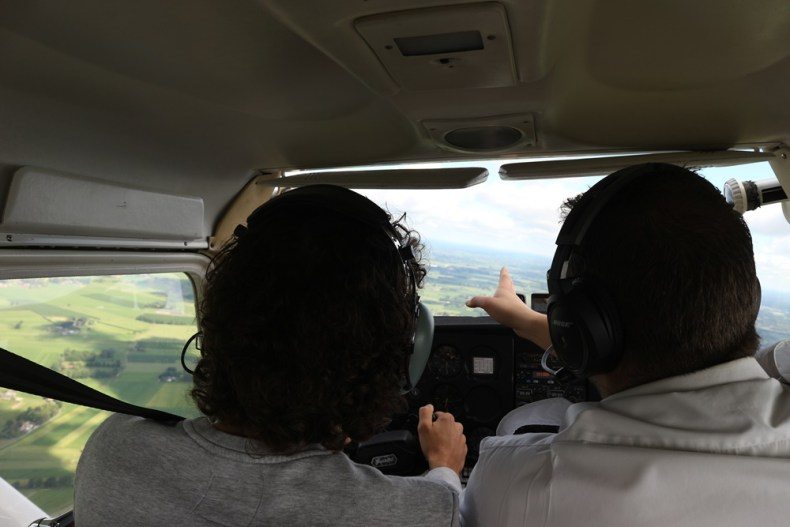 zelf vliegen in een Cesna