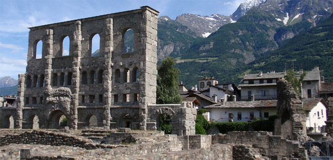 Aosta La Citt Valle DAosta Italia  localit