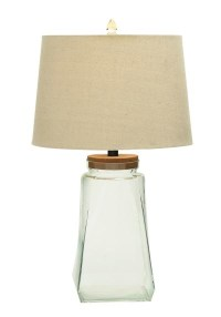 Fillable Glass Jar Table Lamp