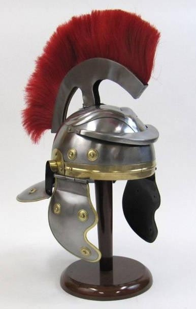 coastal kitchen decor inexpensive table sets roman centurion helmet reproduction - globe imports