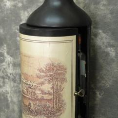 Kitchen Wine Rack Reclaimed Wood Cabinets Bottle Shaped Cabinet - Globe Imports