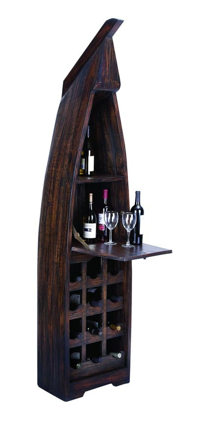 antique kitchen tables industrial cart ship shaped wine cabinet - globe imports