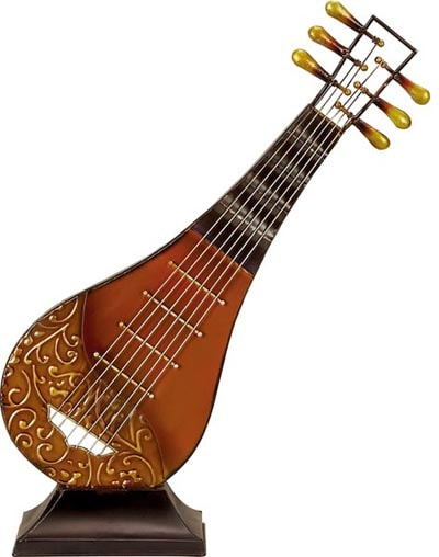 decorative mandolin on stand
