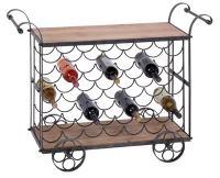 Large Wine Cart on Wheels - Globe Imports