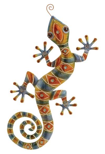 Colorful Wall Lizard  Globe Imports