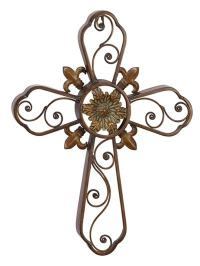 Decorative Metal Wall Cross