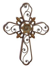 Decorative Metal Wall Cross - Globe Imports