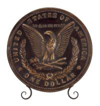 Decorative Coin Plate with Stand - Globe Imports