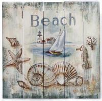 Rustic Beach Sign - Globe Imports