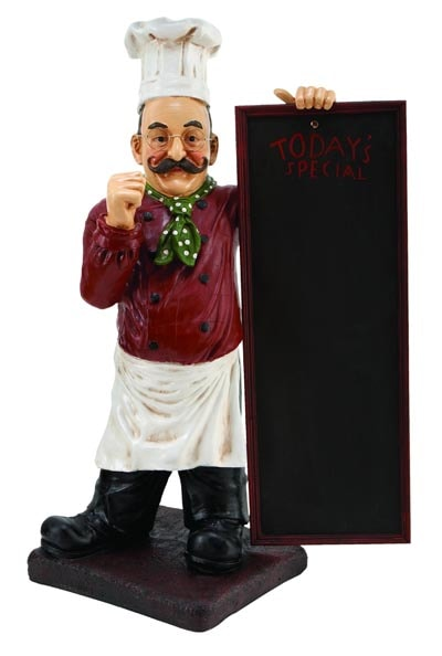 kitchen wall plaques shelves for cabinets chef with chalkboard - globe imports