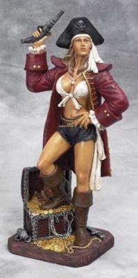 kitchen wall art decor eat in island lady pirate figurine - globe imports