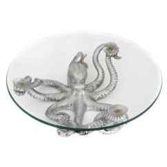 Kitchen Wholesale Target Accessories Silver Octopus Bowl - Globe Imports