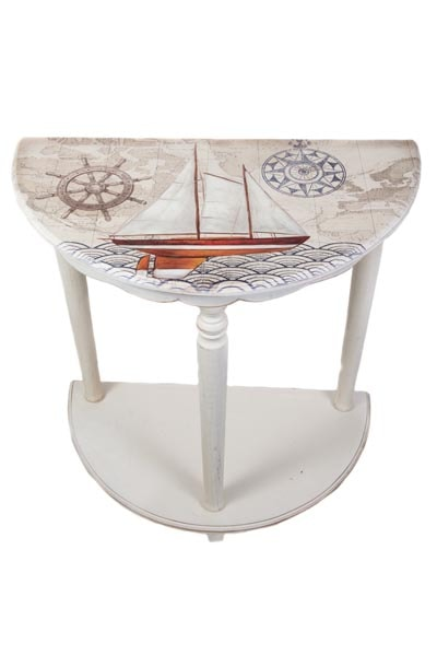 round rustic kitchen table cabinet refacing mississauga half nautical accent - globe imports