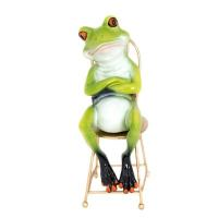 Frog Sitting on Chair - Globe Imports