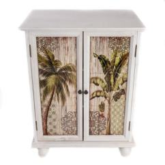 Kitchen Tiles Size Storage Cabinets Palm Trees Cabinet - Globe Imports