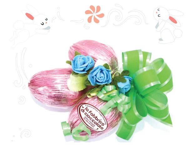Tris uova di cioccolato