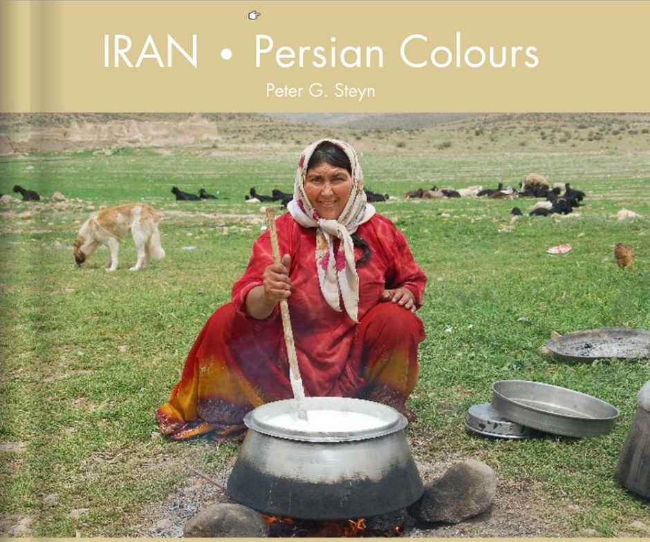 440 glossy pages of photographs and captions of Iran. A large area of Iran is covered all the way from the ancient mud city of Bam in the southeast to Tabriz in the far northwest. Other areas include Esfahan, Shiraz, Yazd, the Kaluts, Kerman, Kashan, Tehran, and the mountain villages of Abyaneh, Masuleh and Kandovan.