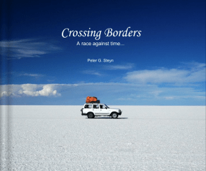 Globerovers Books, Crossing Borders, Peter Steyn