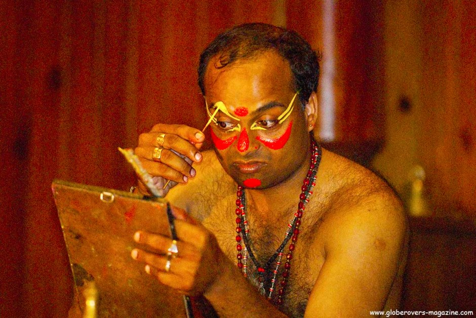 Portraits - Kathakali dance performance, Kochi, Kerala, INDIA