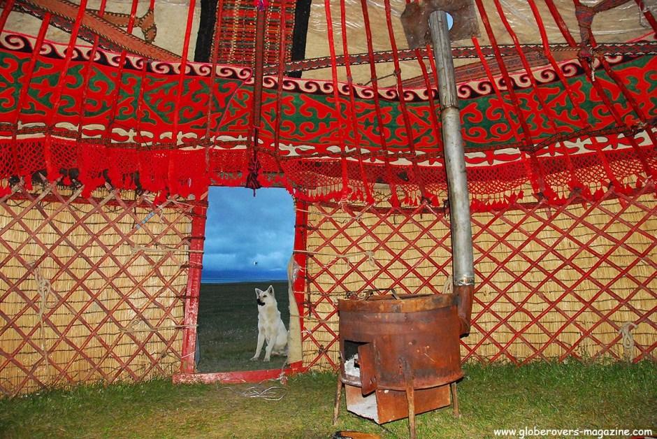 Inside a yurt around Song kul Lake, Kyrgyzstan
