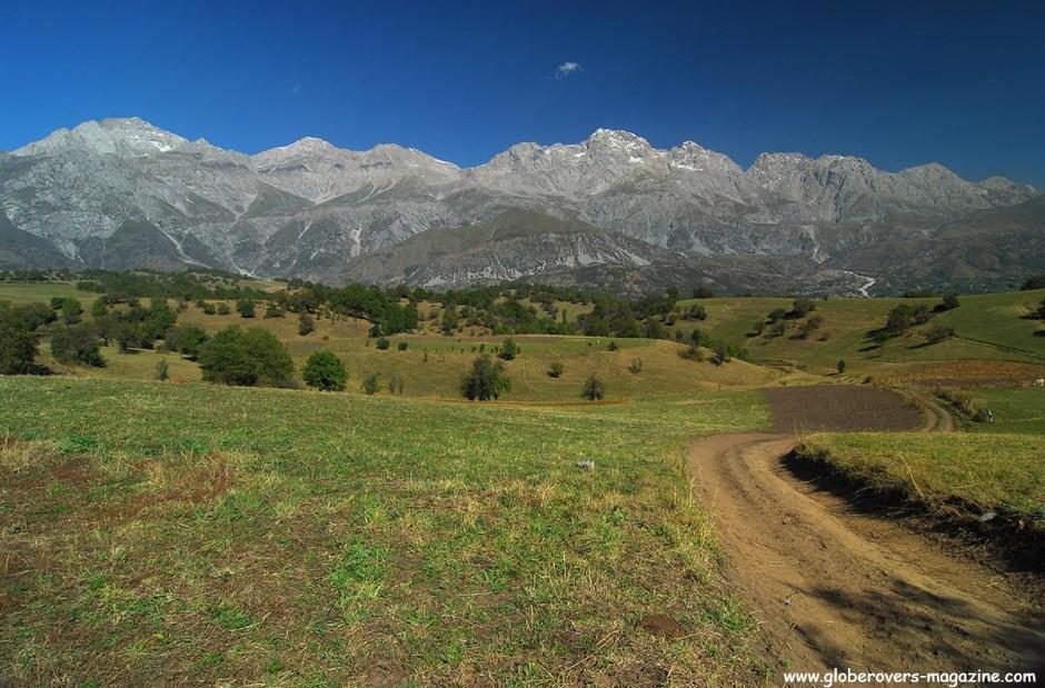Scenery around Arslanbob, Kyrgyzstan