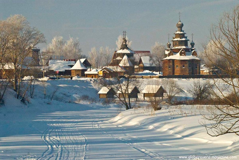 Museum of the Wooden Architechture and Rural Life and from River Kamenka, Suzdal, Russia