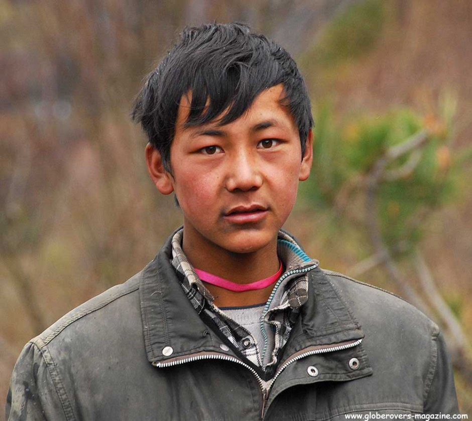 Portraits - Boy in Yubeng Village, Yunnan, CHINA