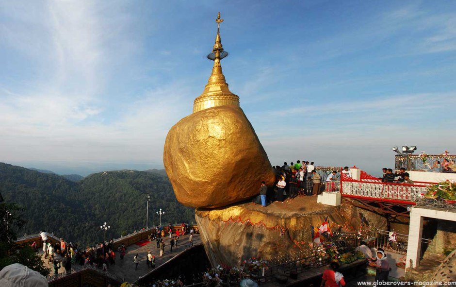 At and around the Kyaiktiyo Pagoda (Golden Rock), Myanmar