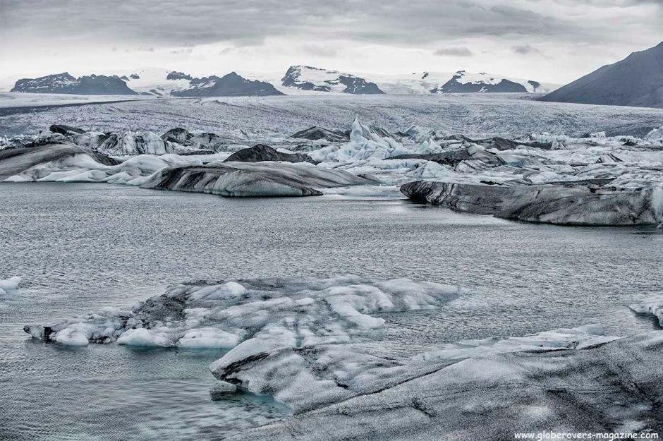 Jökulsárlón glacial lake, Situated at the head of the Breiðamerkurjökull glacier