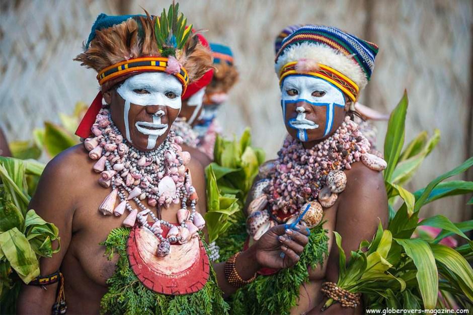 An unknown Singsing Group from Mount Hagen, 2014 Goroka Festival, Papua New Guinea