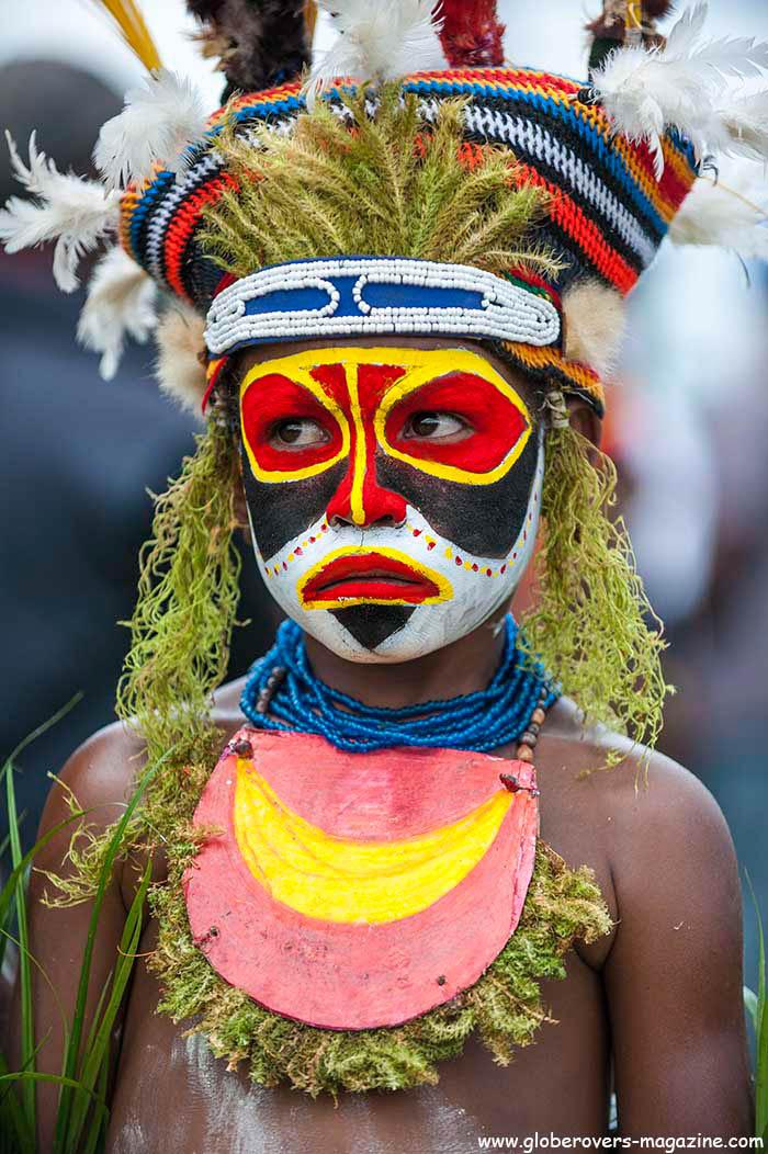Live Stail, Mount Hagen, 2014 Goroka Festival. Papua New Guinea