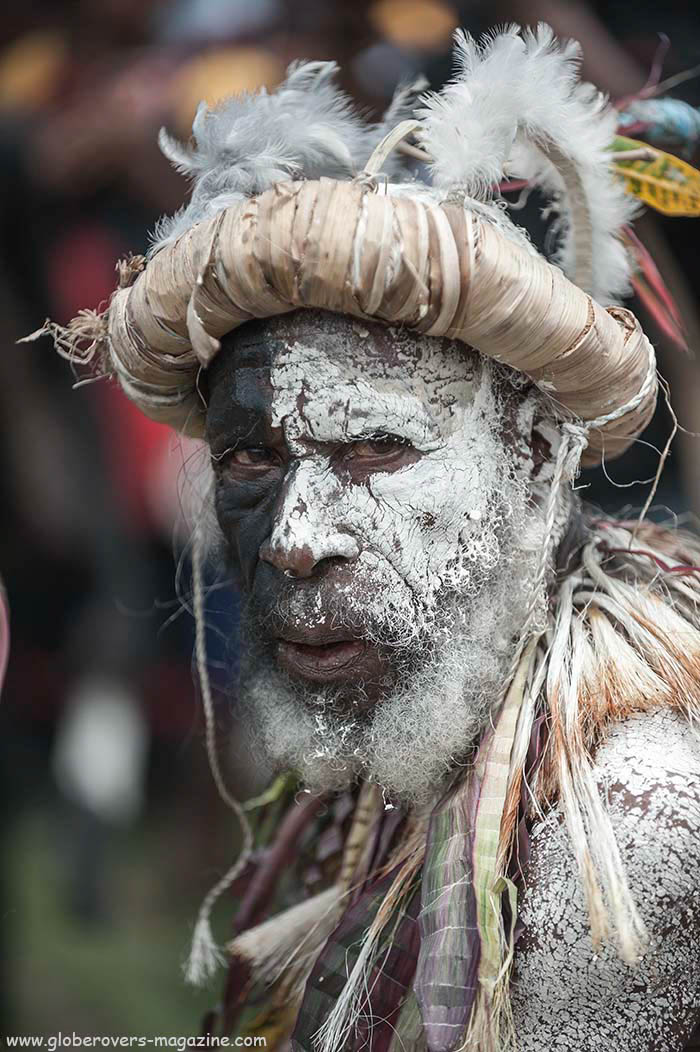 Butterfly Singsing Group, Roza Village, Goroka District, E.H.P., 2014 Goroka Festival, Papua New Guinea