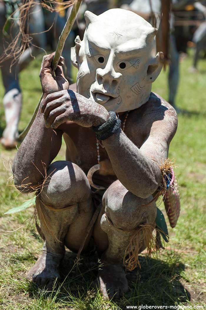 Asaro Mudmen, Goroka, 2014 Goroka Festival. Papua New Guinea