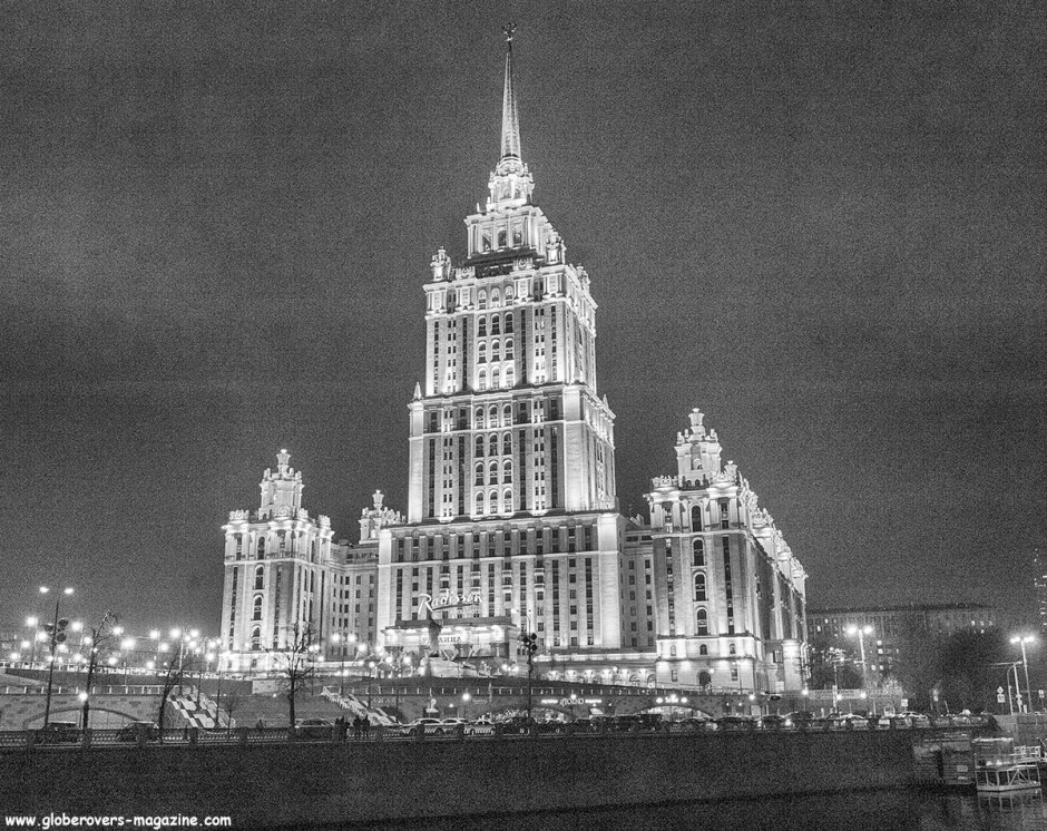 The Radisson Royal Hotel, Moscow in the former Hotel Ukraina. on a bend of the Moskva River, Moscow, Russia