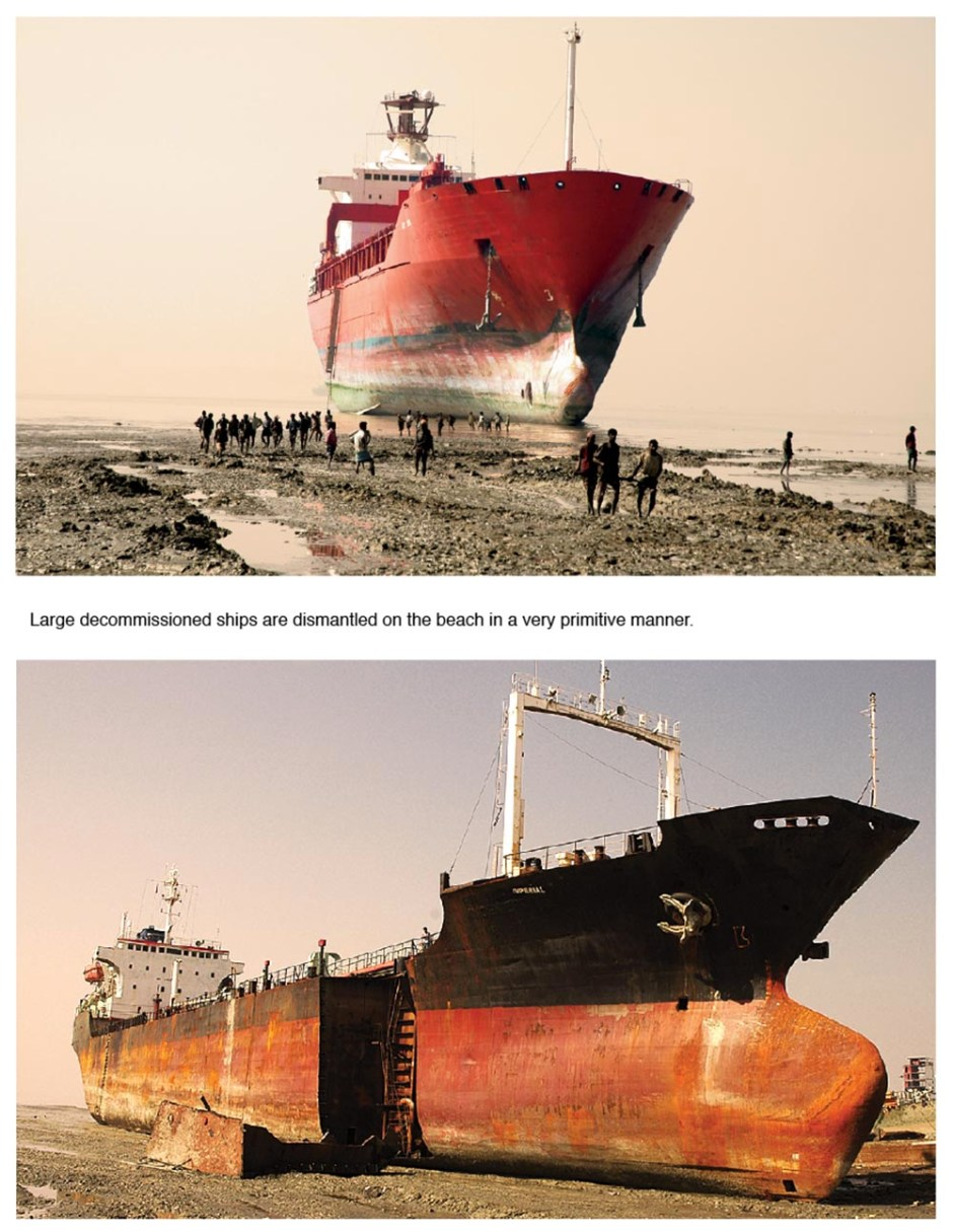 Ship breaking yards near Chittagong, Bangladesh