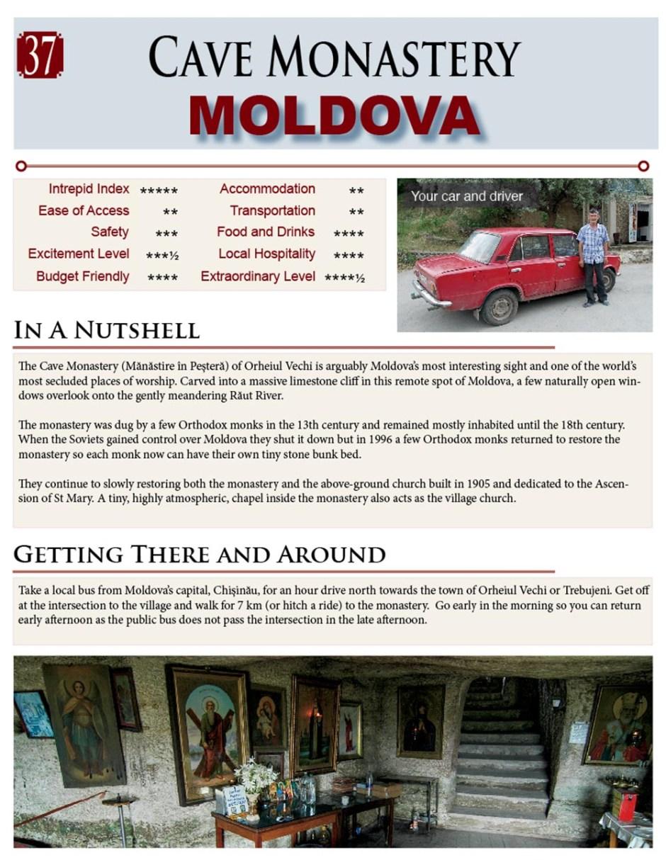 Moldova Cave Monastery near Orheiul Vechi