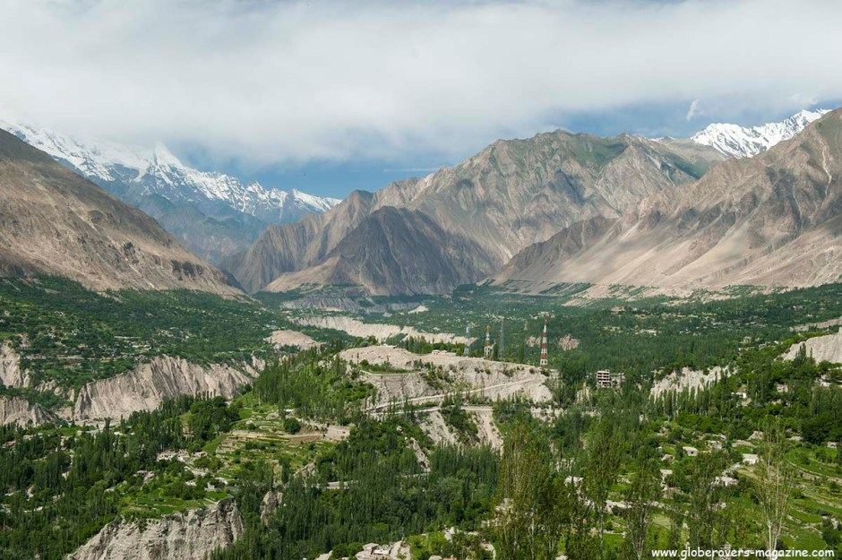 Views over Karimabad, Lower Hunza Valley, PAKISTAN