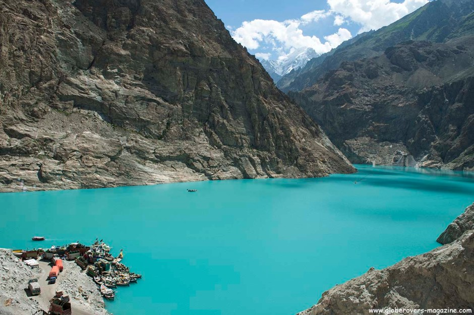Southern end of Attabad Lake, Hunza Vallay, PAKISTAN